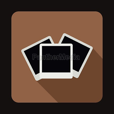 photos icon in flat style