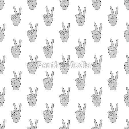 gesture victoria seamless pattern