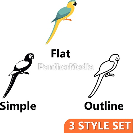 parrot icons set