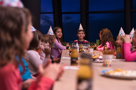 young boy having birthday party