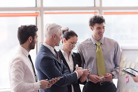 young startup businessman making presentation to