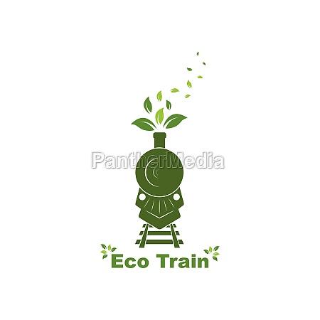 eco trains vector illustration design