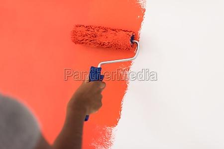 decorators hand painting wall