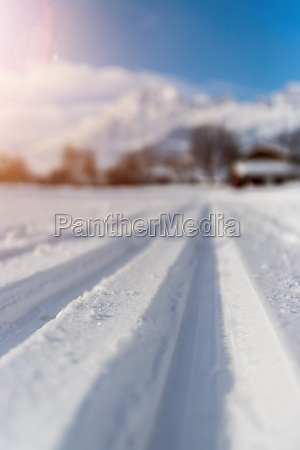 cross country skiing in austria slope