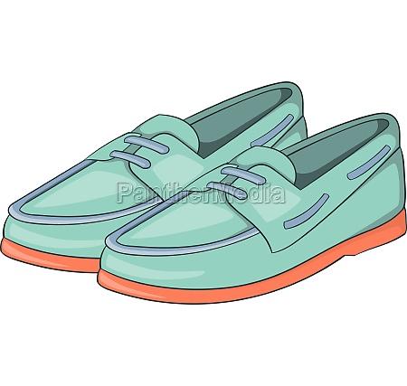 denim loafers icon cartoon style