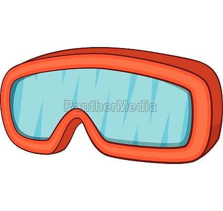 ski sport goggles icon cartoon style