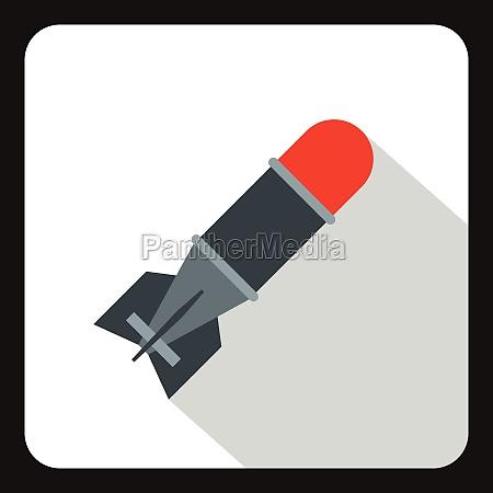 bomb icon flat style