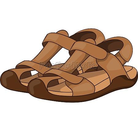sandals icon cartoon style