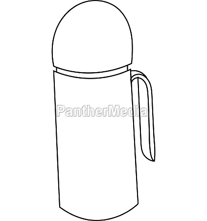 thermos icon outline style