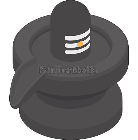 black jug icon cartoon style