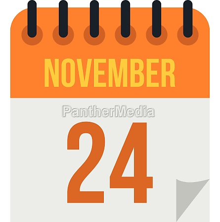 calendar november twenty fourth icon flat
