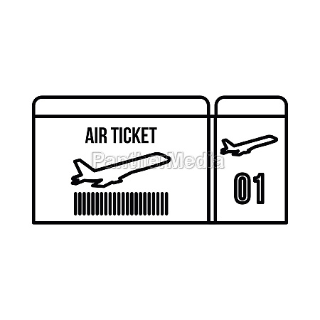 air ticket icon outline style