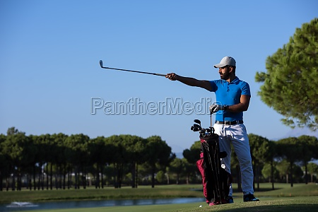 golfer portrait at golf