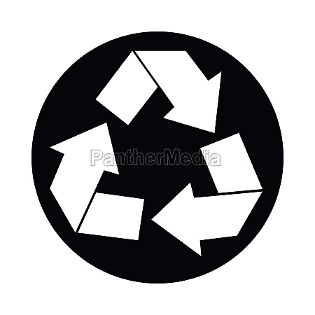 recycle sign icon simple style