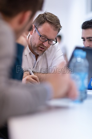 startup business team on meeting at
