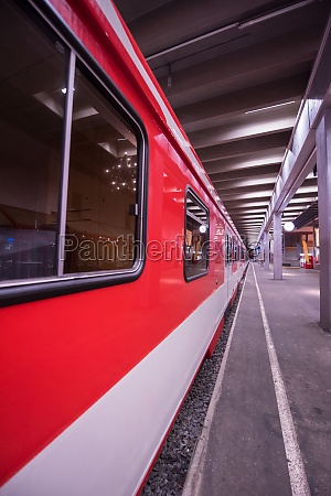 empty interior of subway station