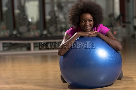 woman relaxing after pilates workout