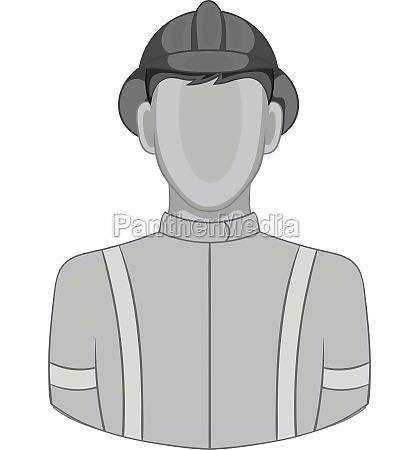 fireman icon black monochrome style