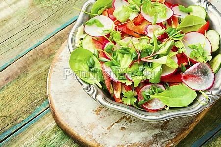 plate of healthy vegetarian salad diet