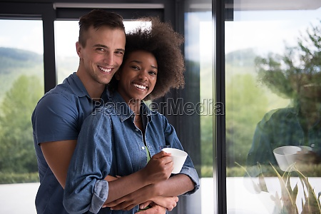 romantic happy young couple relax at