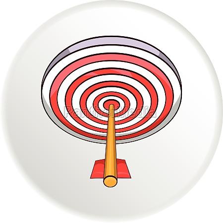 darts icon cartoon style