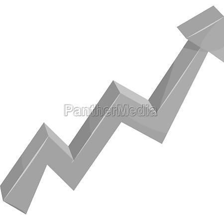 business arrow icon black monochrome style