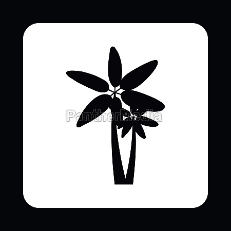 twins palm trees icon simple style