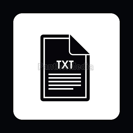 file txt icon simple style