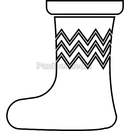 christmas sock icon outline style