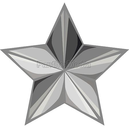 star icon black monochrome style
