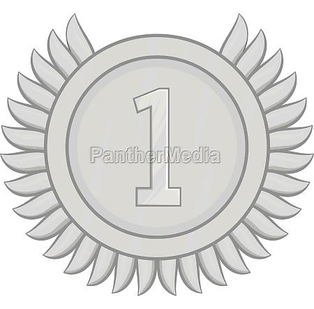 first place award icon black monochrome
