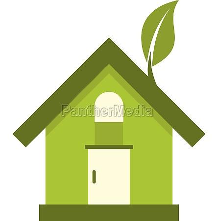 eco house icon flat style
