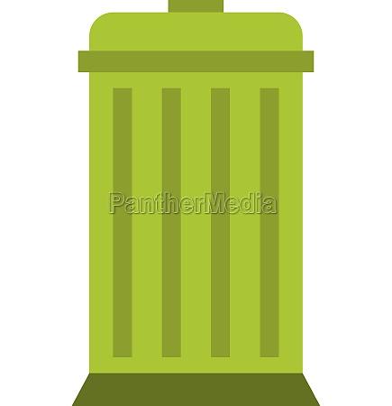 eco dustbin icon flat style