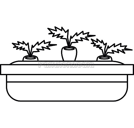 flowerpot for plants icon outline style