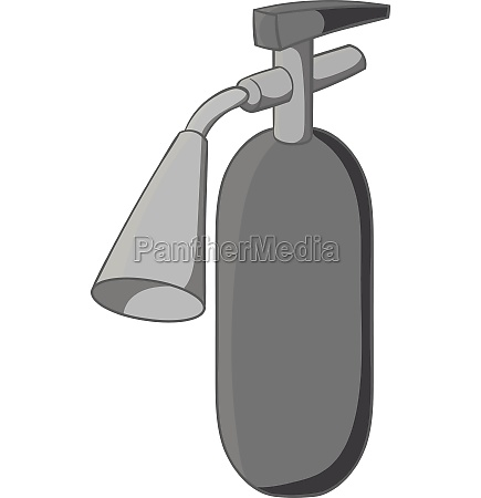 fire extinguisher icon black monochrome style