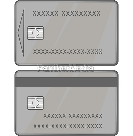 credit card icon black monochrome style