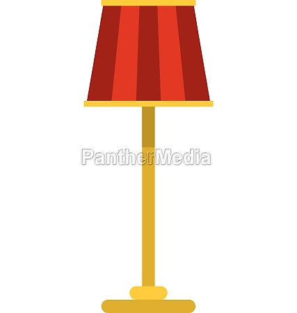 floor lamp icon flat style