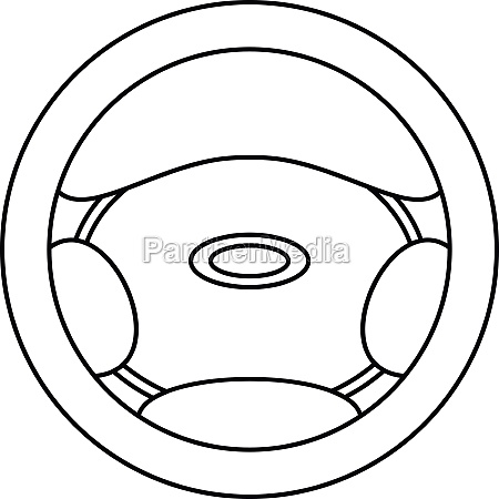 steering wheel icon outline style