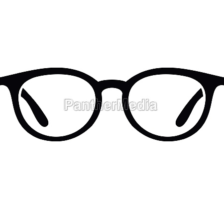 glasses icon in simple style