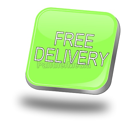 free delivery button pastel green