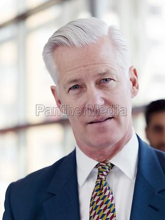 portrait of handsome senior business man