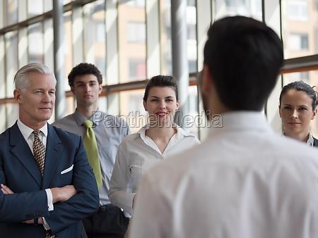 business leader making presentation and brainstorming