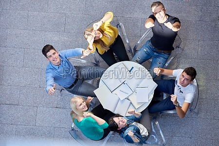 group of students top view