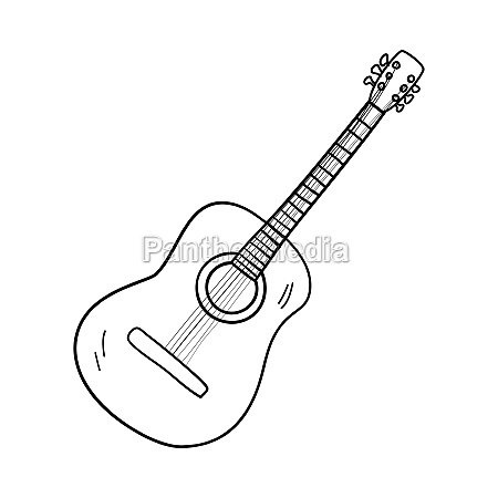 icon of acoustic guitar