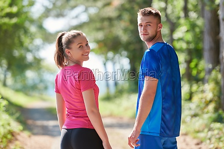 couple enjoying in a healthy lifestyle
