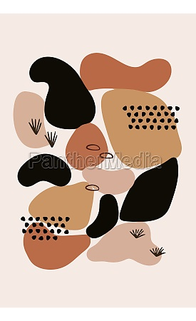 abstract contemporary aesthetic background minimalist art