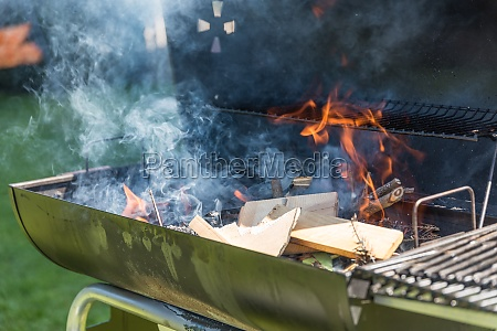 charcoal grill barbecue fire in