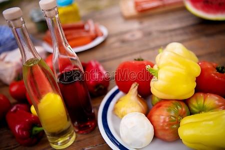 bio healthy organic food set on