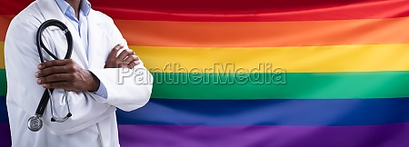 close up of rainbow flag