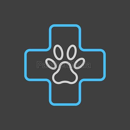 veterinary vector icon on dark background